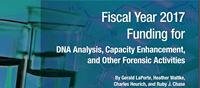 Fiscal Year 2017 Funding for DNA Analysis, Capacity Enhancement, and Other Forensic Activities