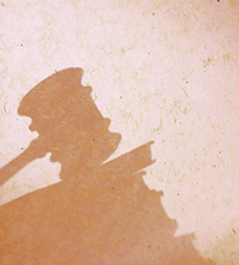 Silhouette of gavel