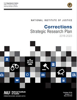 Cover of the Corrections Strategic Research Plan, links to PDF version