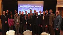 LEADS scholar posing at IACP conference