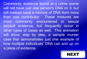 Still image linking to Animation Demonstrating how DNA Mixtures at a Crime Scene Can Occur