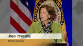 Joan Petersilia at podium