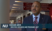 Still image of Hassan Aden, Director, Research and Programs, The International Association of Chiefs of Police, linking to the video.