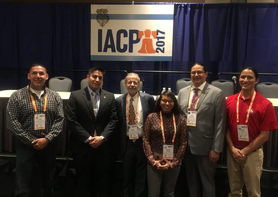 Left to right: John Littlewolf, Vaughn Vargas, Howard Spivak, Chelsea Bad Hawk, Joseph Robertson, and Cheyenne Grabiec