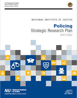 Cover of the Policing Strategic Research Plan, links to PDF version