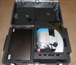 portable system packed in a case