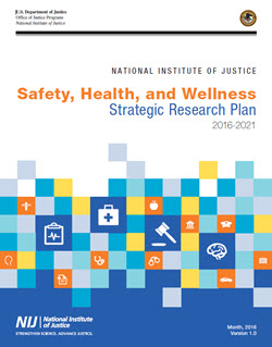 Cover of the Safety, Health, and Wellness Strategic Plan, links to PDF version