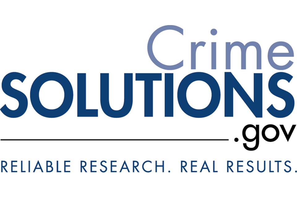 CrimeSolutions.gov. Reliable Research. Results