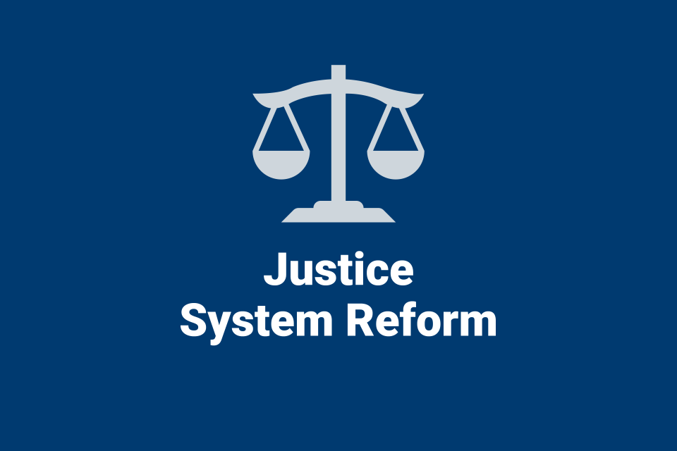 Justice System Reform information from NIJ