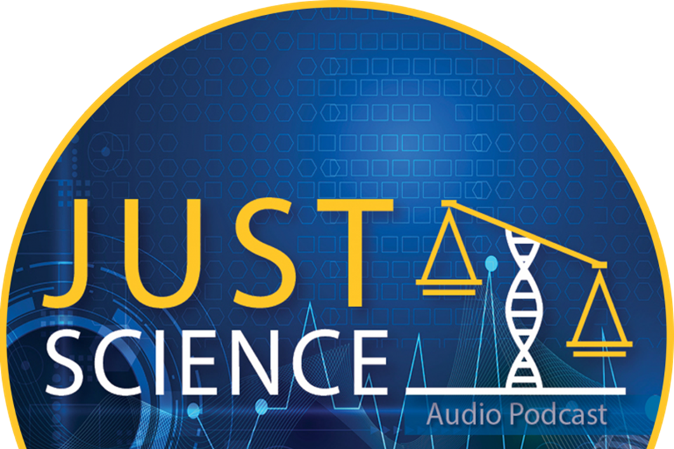 Just science podcast logo