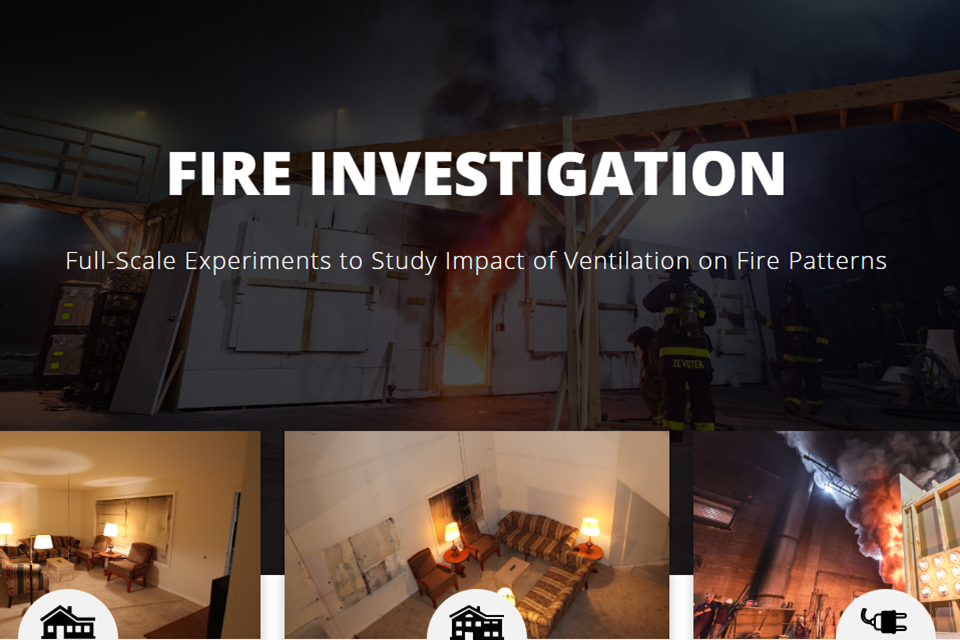 Fire Investigation Full Scale Experiments to Study Impact of Ventilation on Fire Patterns