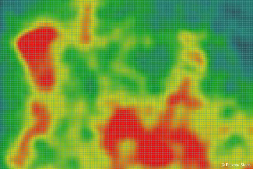 Colorful image of a heat map.