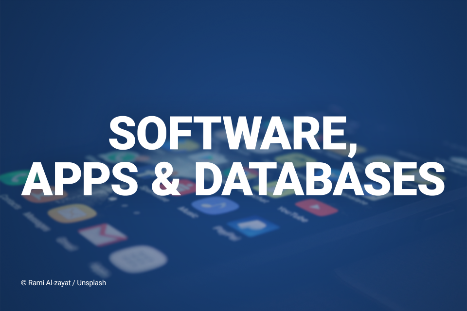 software, apps, and databases