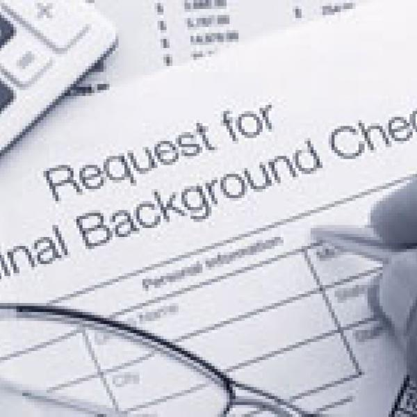 Request for criminal background check form