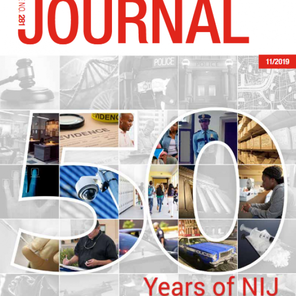 Journal 281 Cover - 50 Years of NIJ 1968-2018